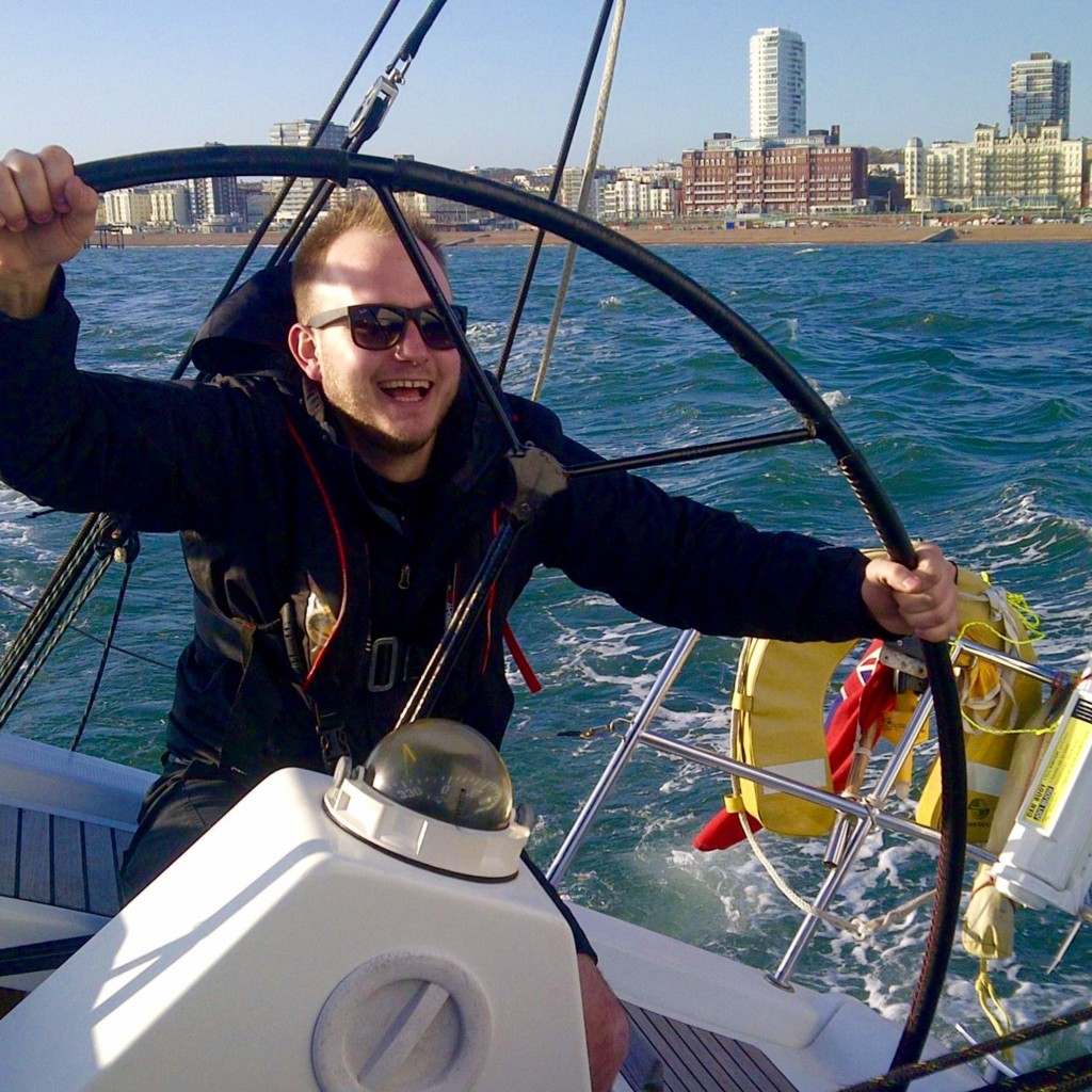 yacht sailing happy skipper