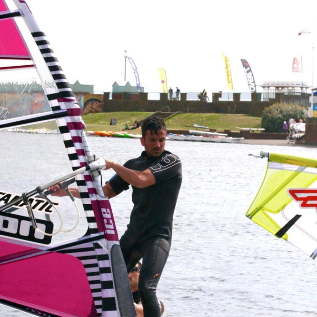 Celebs enjoy windsurfing