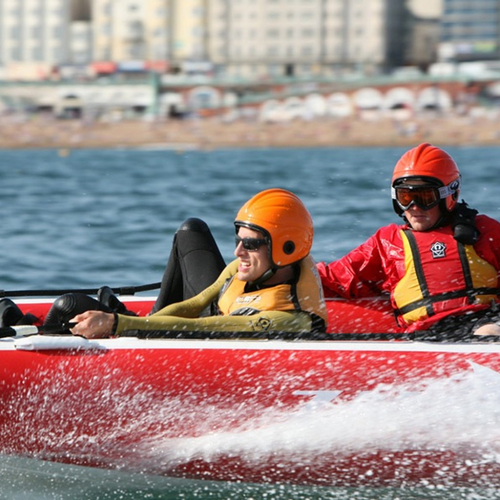 company activity day thrills on water