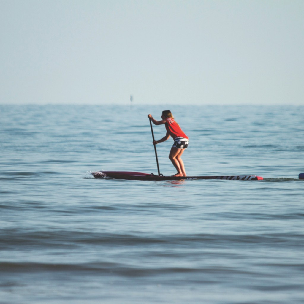 standup paddleboard on sea lucy