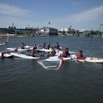 kids watersports activities windsurfing group