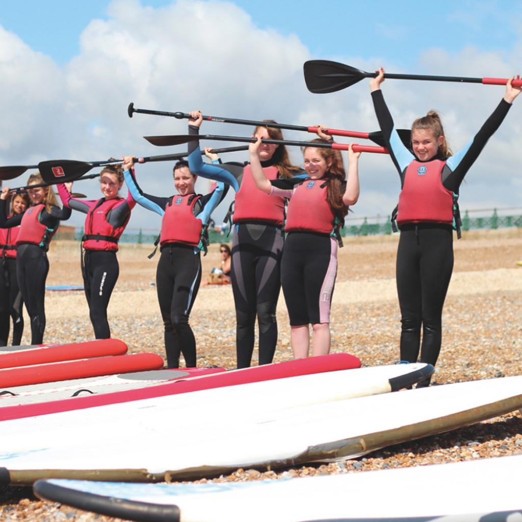 kids watersports activities SUP fun
