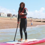 kids watersports activities SUP on sea