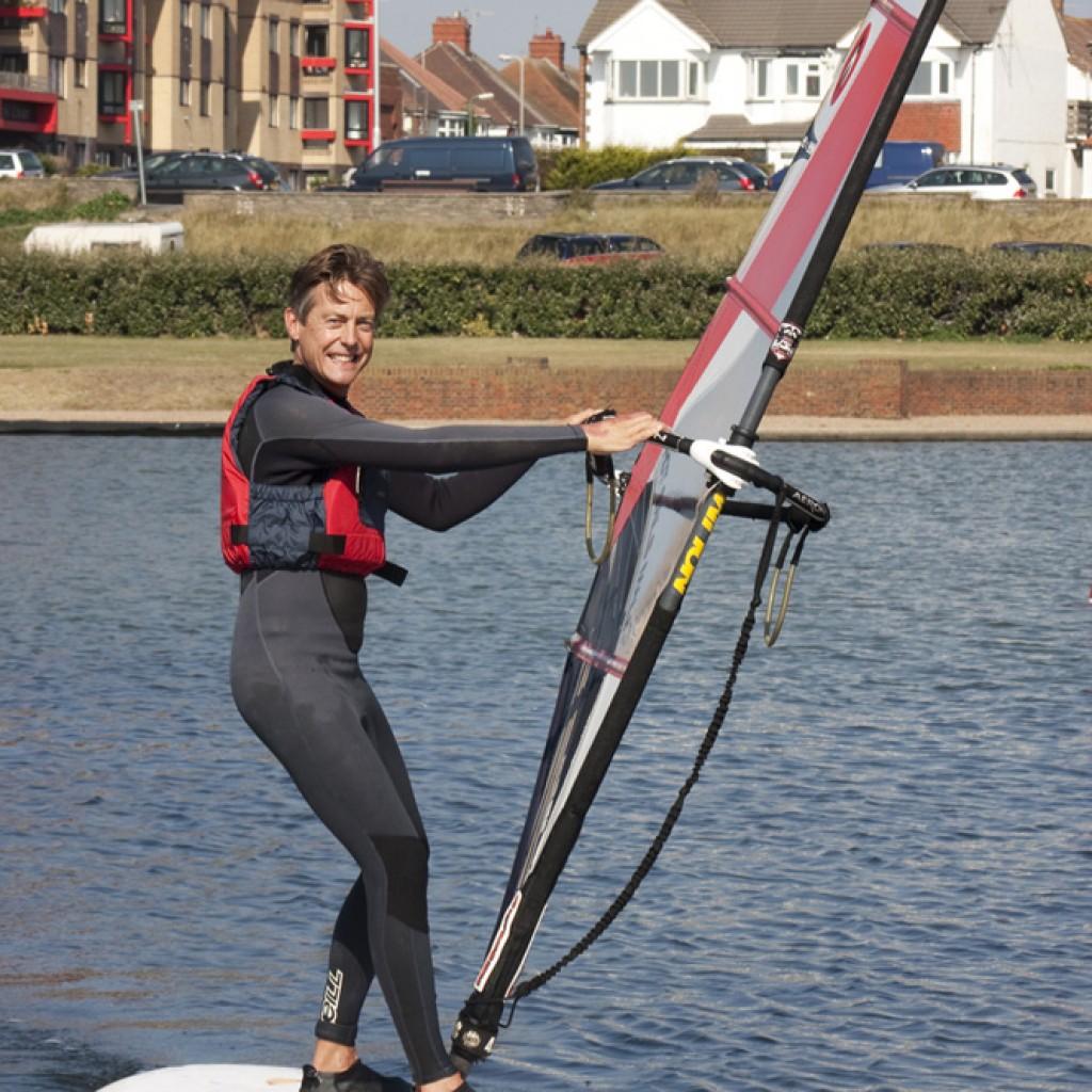 Windsurfing on Hove Lagoon