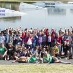 Lagoon staff with uckfield school group