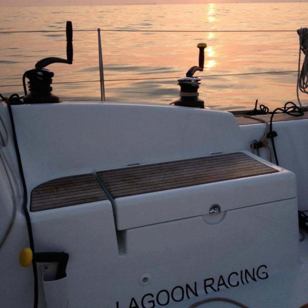 yacht racing lagoon racing calm before storm
