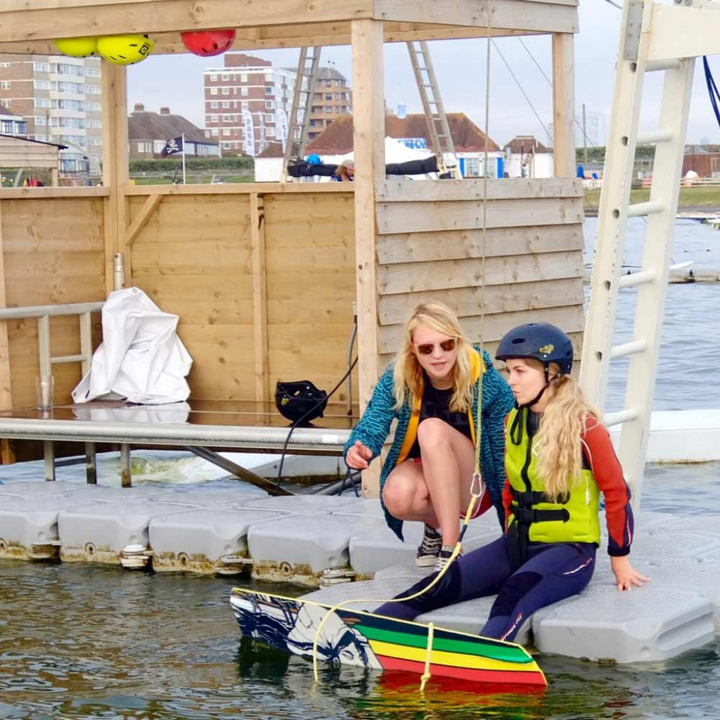 This Girl can - Ella learns to wakeboard coached by Harriet