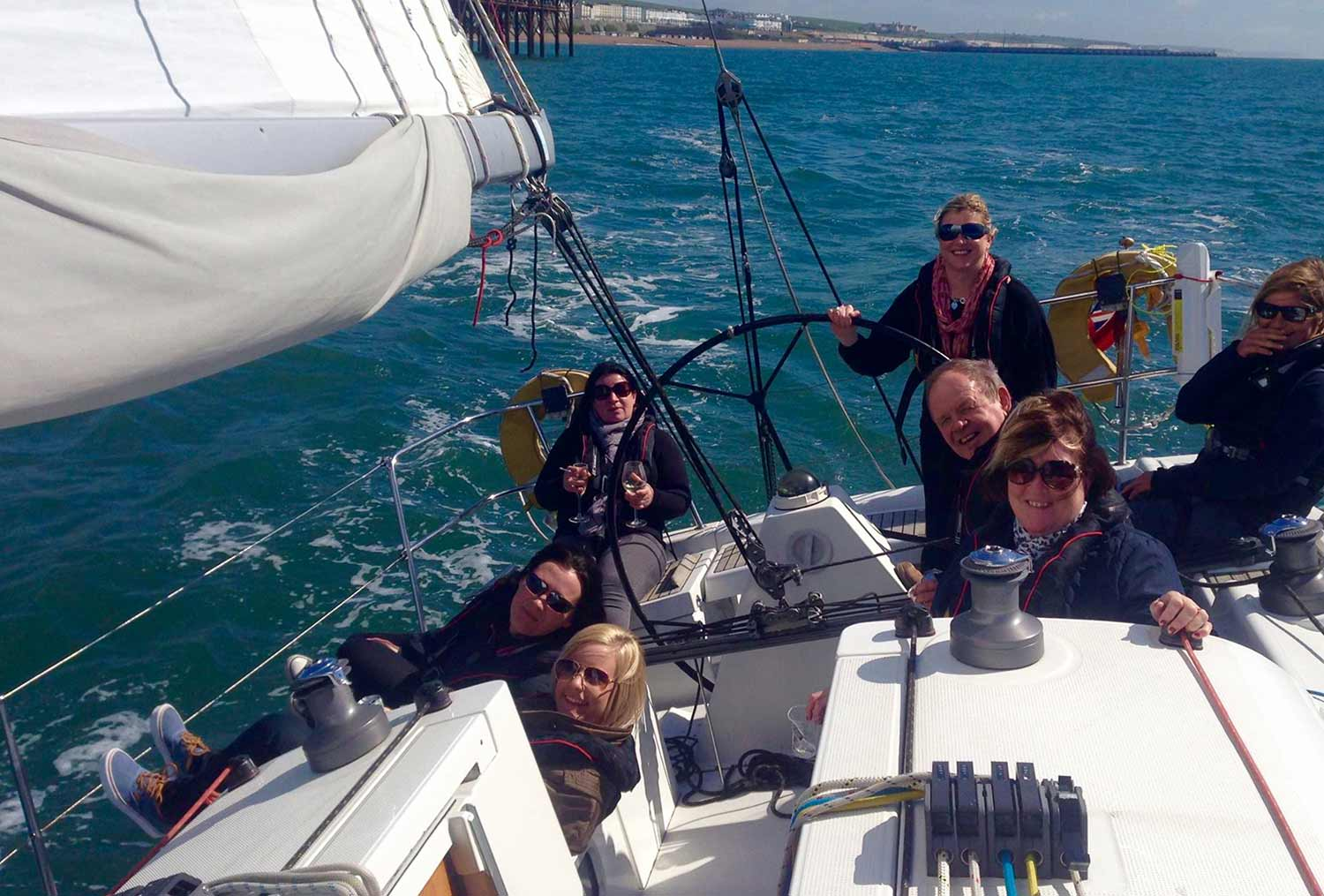 sailing yacht brighton pier with lagoon watersports