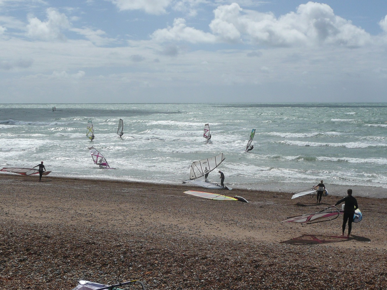 Fun windsurfing day at Hove beach