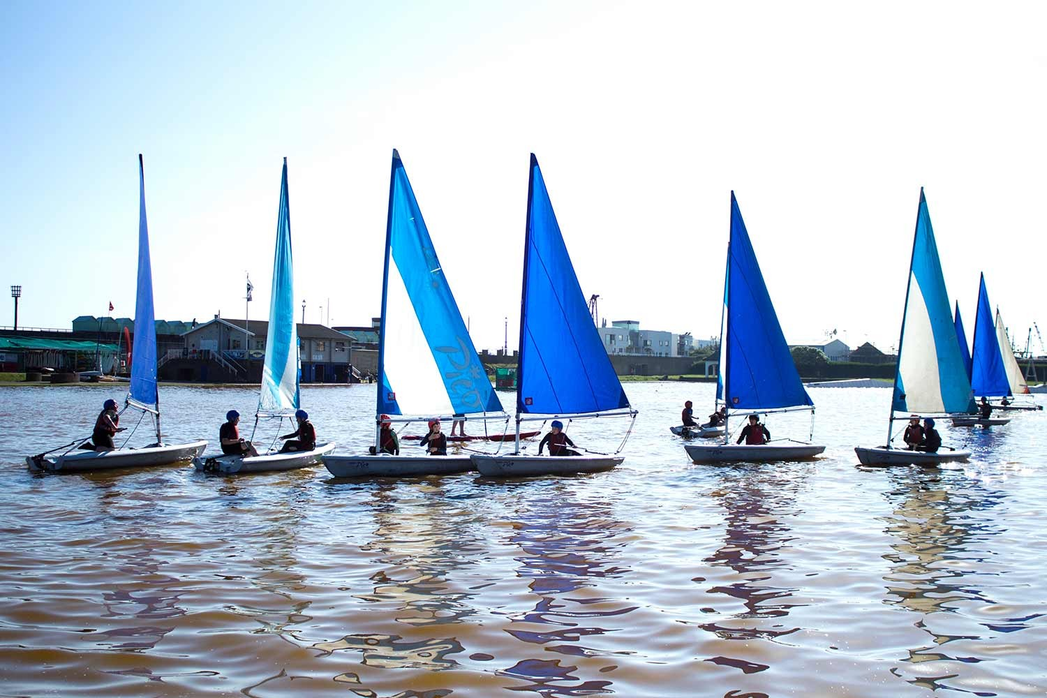 kids sailing race Hove lagoon brighton